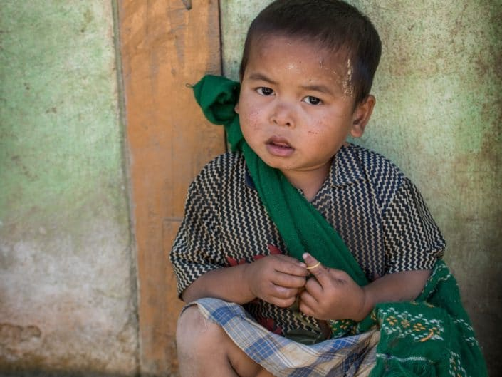 The little boy from Creek Chaung.