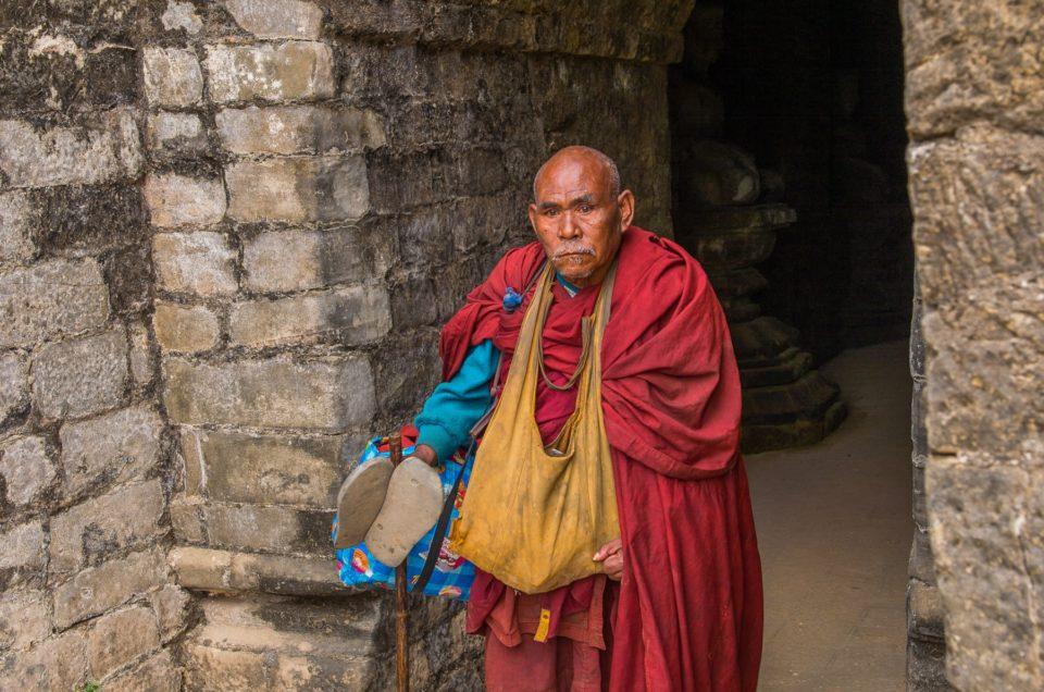 Le moine de Koe Thaung temple.