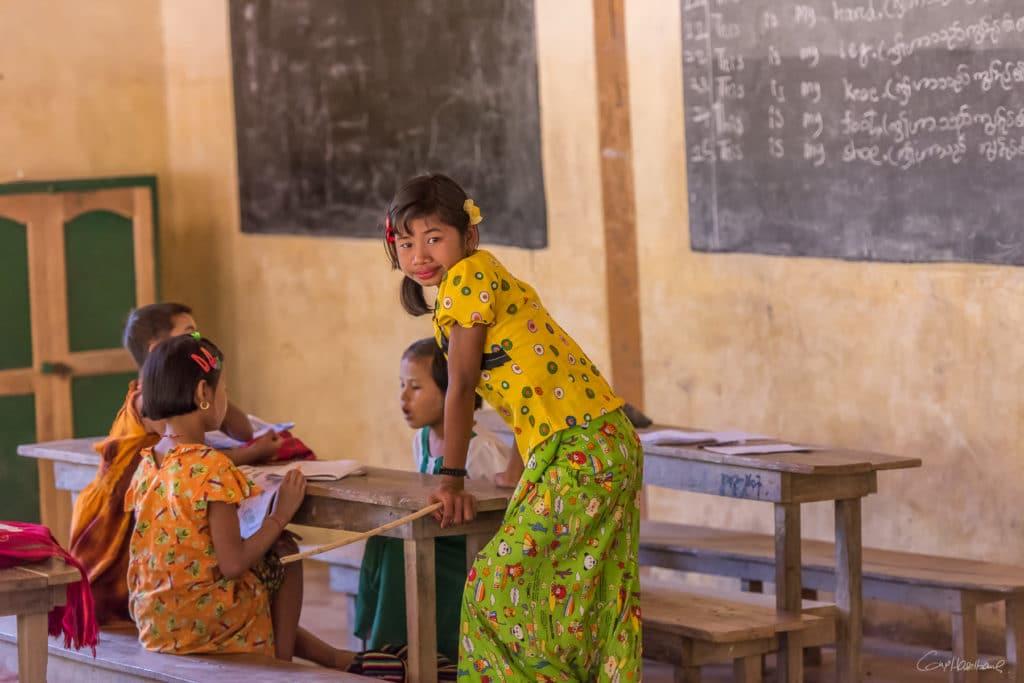 Ecole d'un village de la région de Mrauk-U