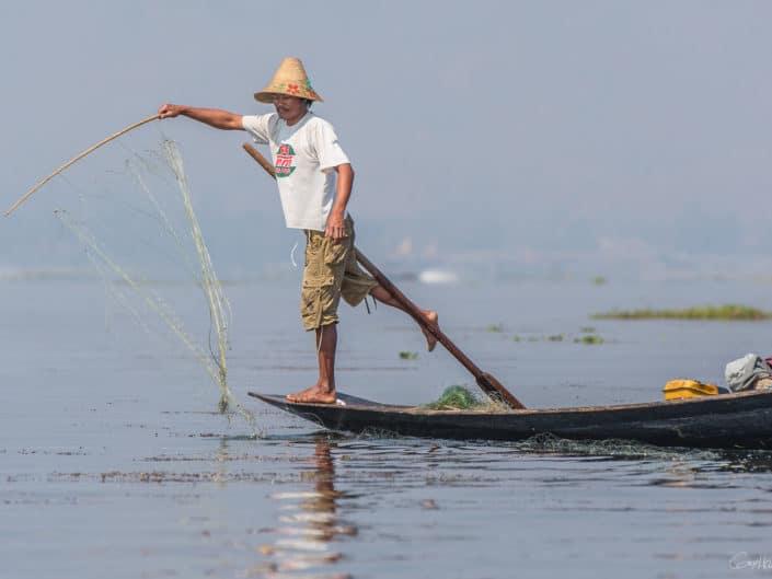 Les pêcheurs du lac Inle.
