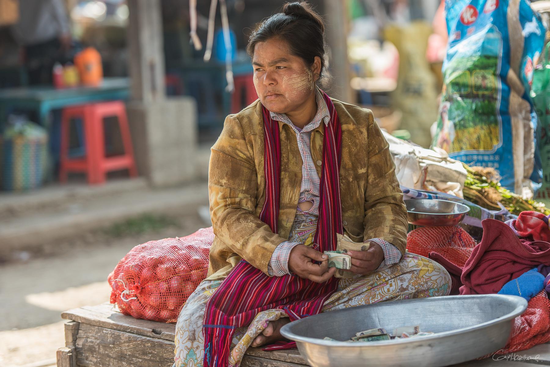 Marché de Nampan - Lac Inle - Birmanie.