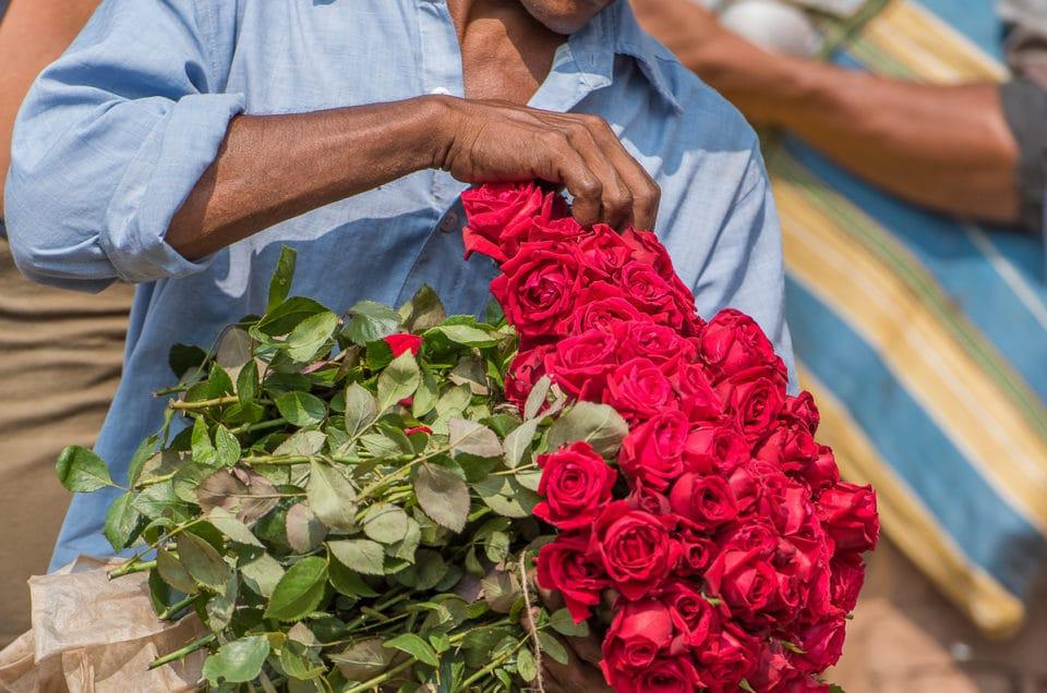 The Flowers market Calcutta.