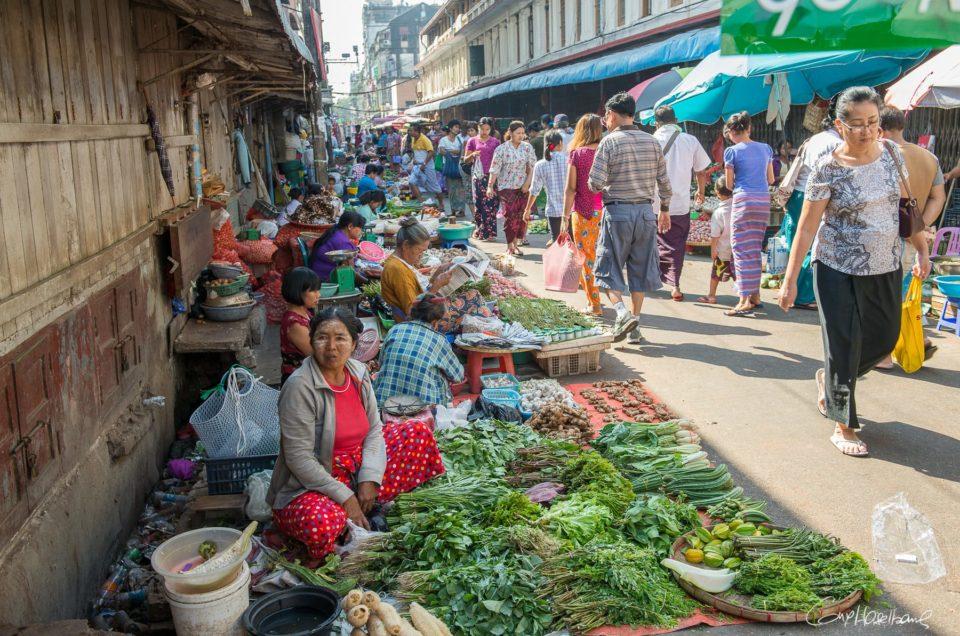 La 26ème rue à Yangon.