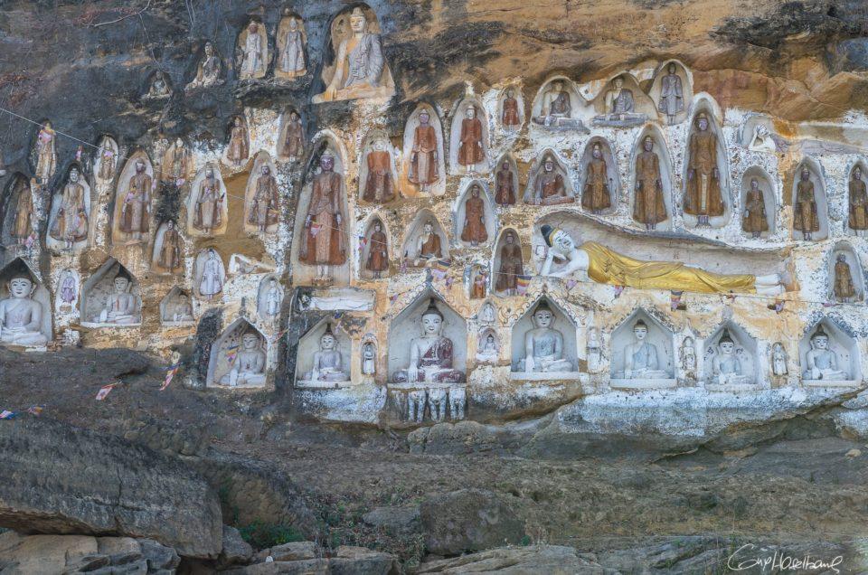 Les douaniers sculpteurs d'Akauk Taung.