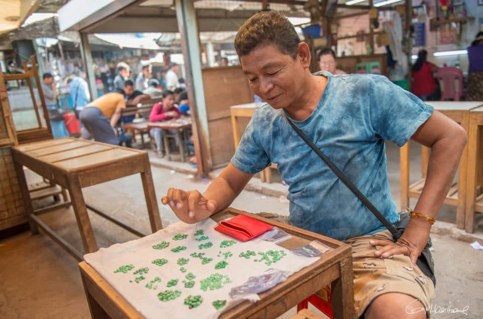 Thein Tun, seller of Jade.
