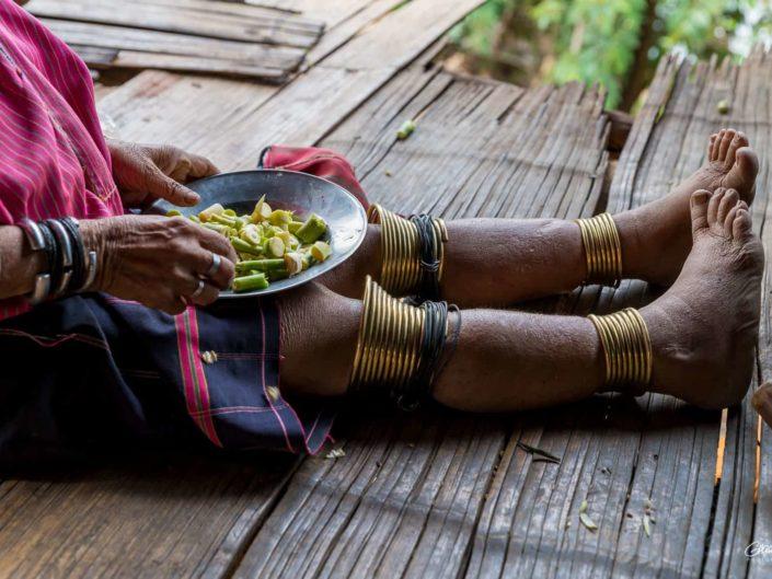 portraits des tribus Kayaw birmanie village ethnique